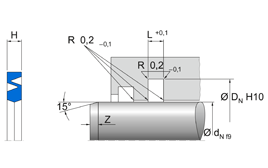 Installation sketch Rod Seal (Pneumatic)