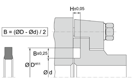 Installation sketch Flange Seal