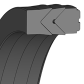 Cross section sketch Piston Seal (Hydraulic)