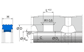 Installation sketch Radial Seal