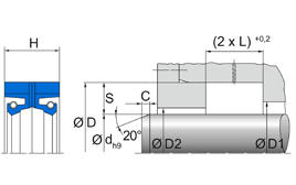 Installation sketch Radial Shaft Seal R36