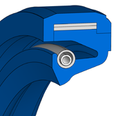 Cross section sketch Radial Shaft Seal