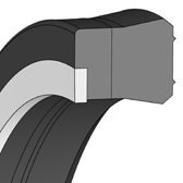 Cross section sketch Rod Seal (Hydraulic) SNI07