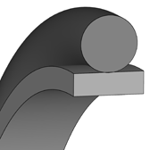 Cross section sketch Rod Seal (Hydraulic)
