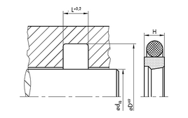 Installation sketch Rod Seal (Hydraulic)