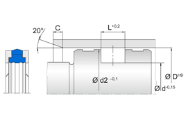 Installation sketch Piston Seal (Hydraulic)