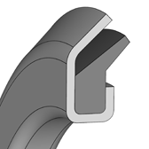 Cross section sketch Axial Seal