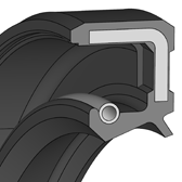 Cross section sketch Radial Shaft Seal WAS