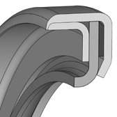 Cross section sketch Radial Shaft Seal WCP